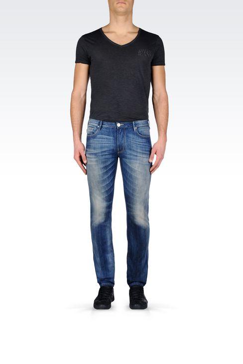 SLIM FIT MEDIUM WASH JEANS: Jeans Men by Armani - 2