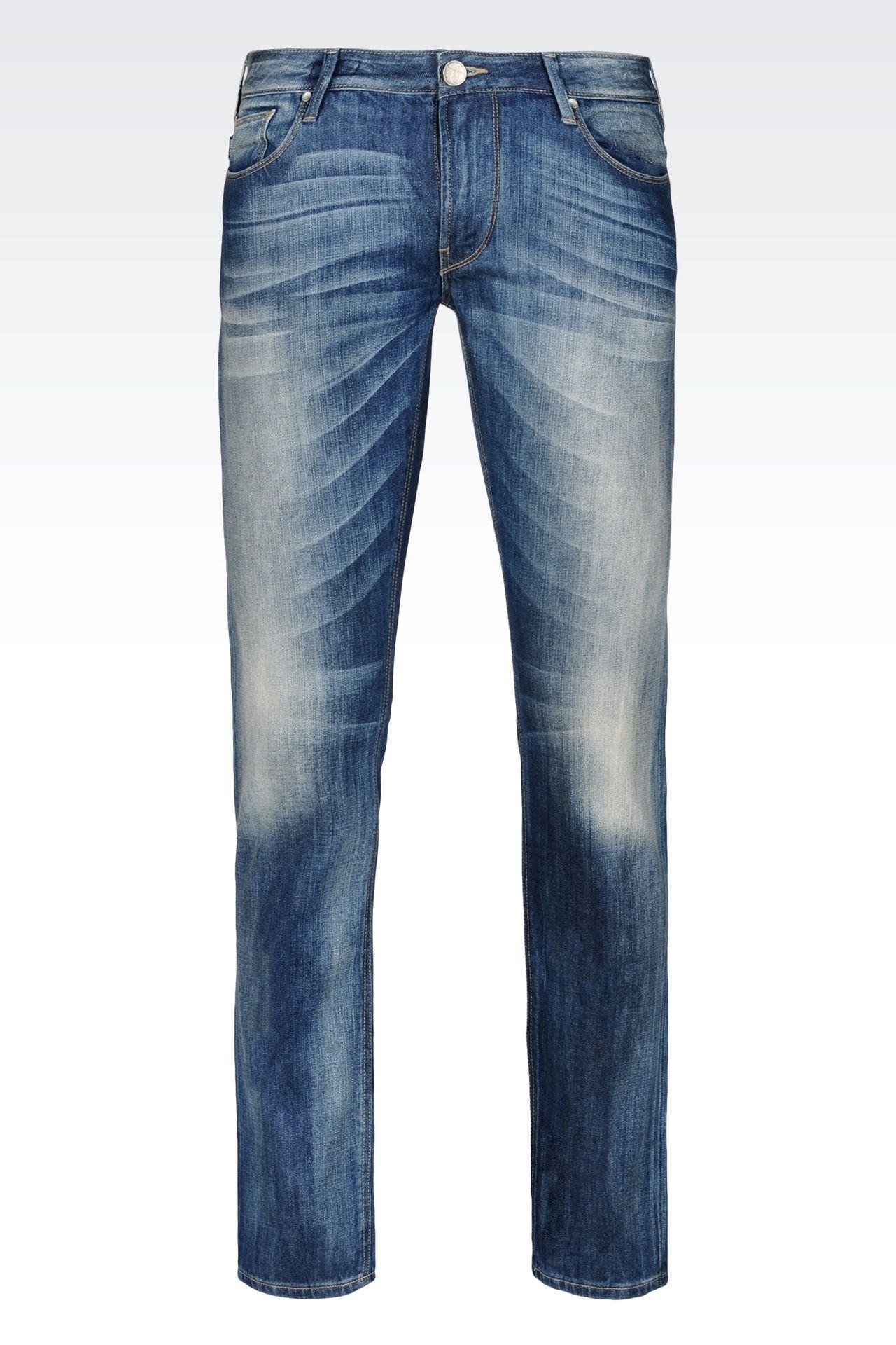 SLIM FIT MEDIUM WASH JEANS: Jeans Men by Armani - 0