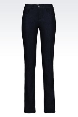 Armani 5 pockets Women slim fit dark wash jeans