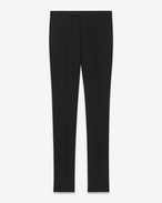 Classic Straight Leg Trouser in Black Wool Gabardine