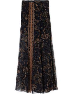 """Black Persian"" silk palazzo pants"