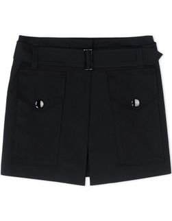 Cotton military mini-skirt