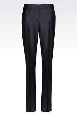 Armani trousers Women trousers in gabardine