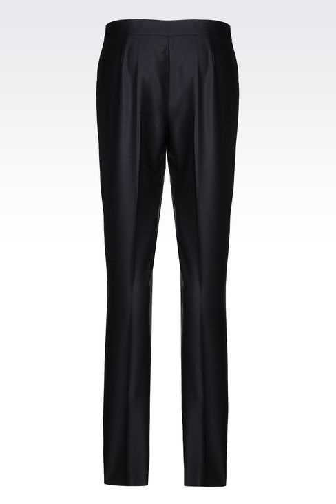 TROUSERS IN GABARDINE: Trousers Women by Armani - 3