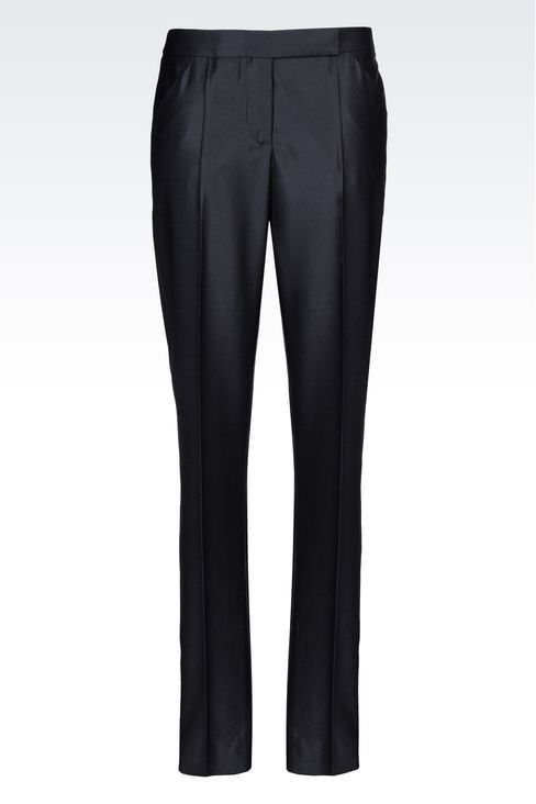 TROUSERS IN GABARDINE: Trousers Women by Armani - 1