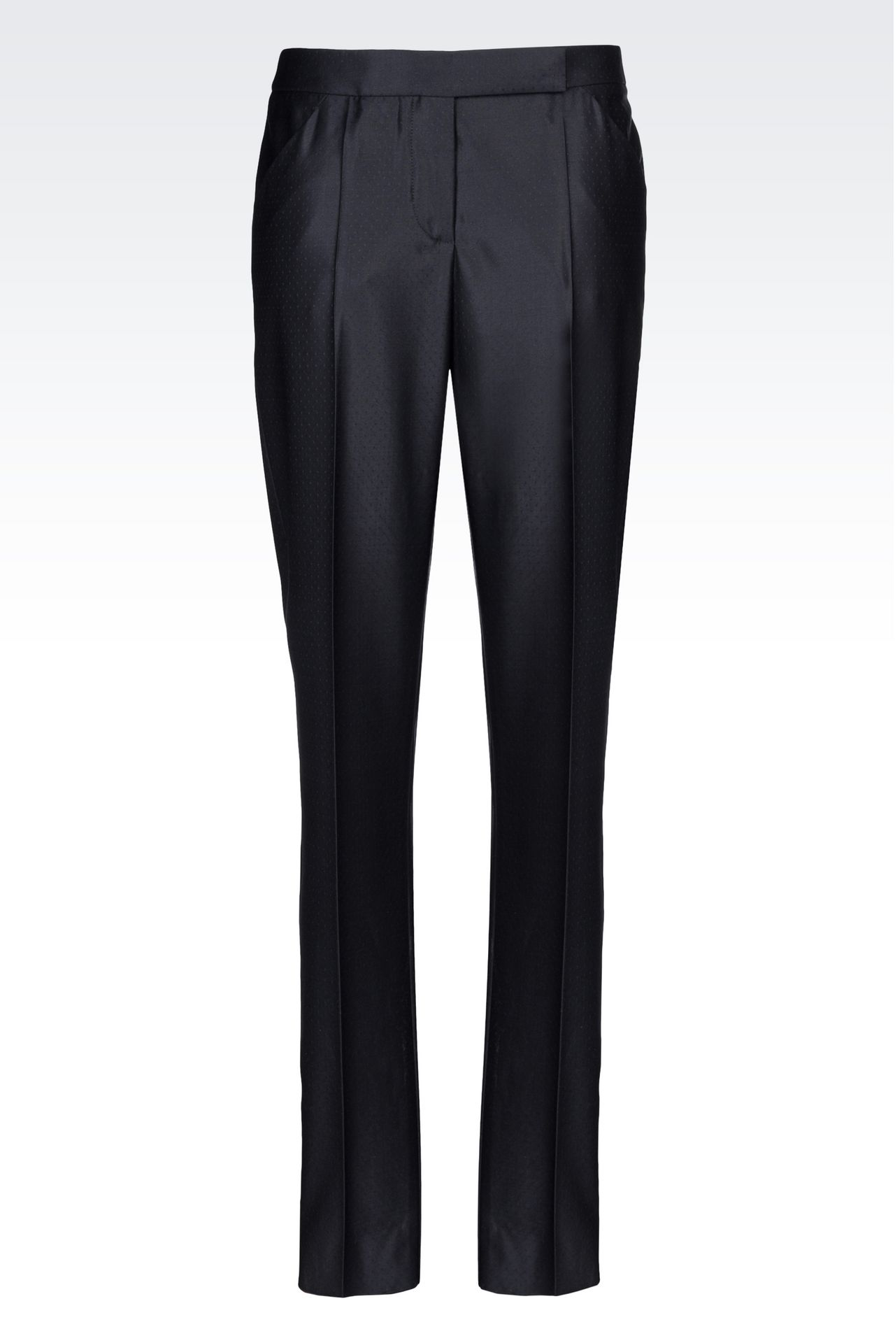 TROUSERS IN GABARDINE: Trousers Women by Armani - 0