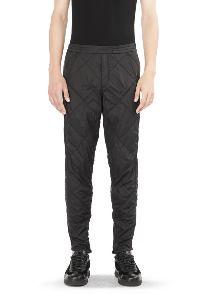 ALEXANDER WANG PANTS DIAMOND QUILTED TROUSERS