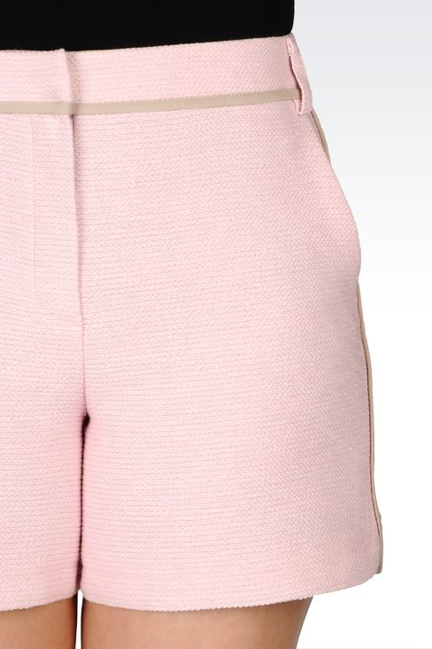 BERMUDA SHORTS IN BASKETWEAVE: Bermuda shorts Women by Armani - 5