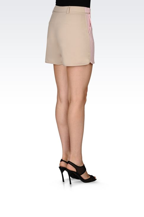 BERMUDA SHORTS IN BASKETWEAVE: Bermuda shorts Women by Armani - 4