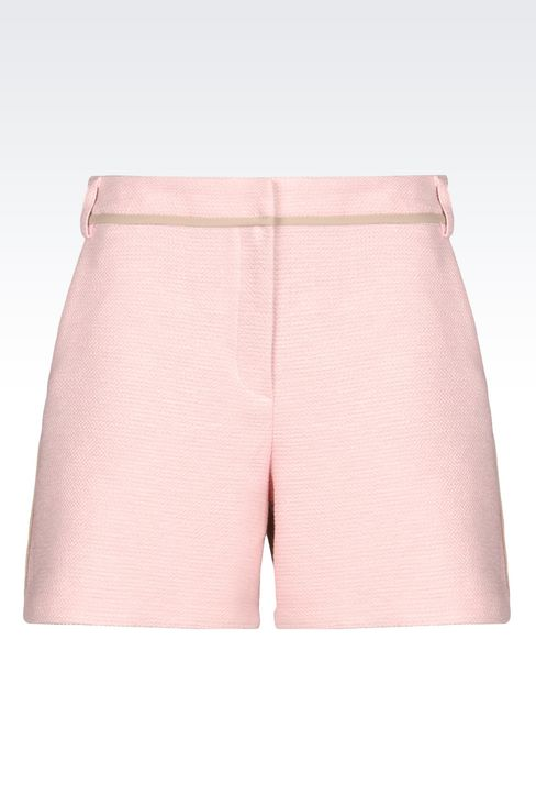 BERMUDA SHORTS IN BASKETWEAVE: Bermuda shorts Women by Armani - 1
