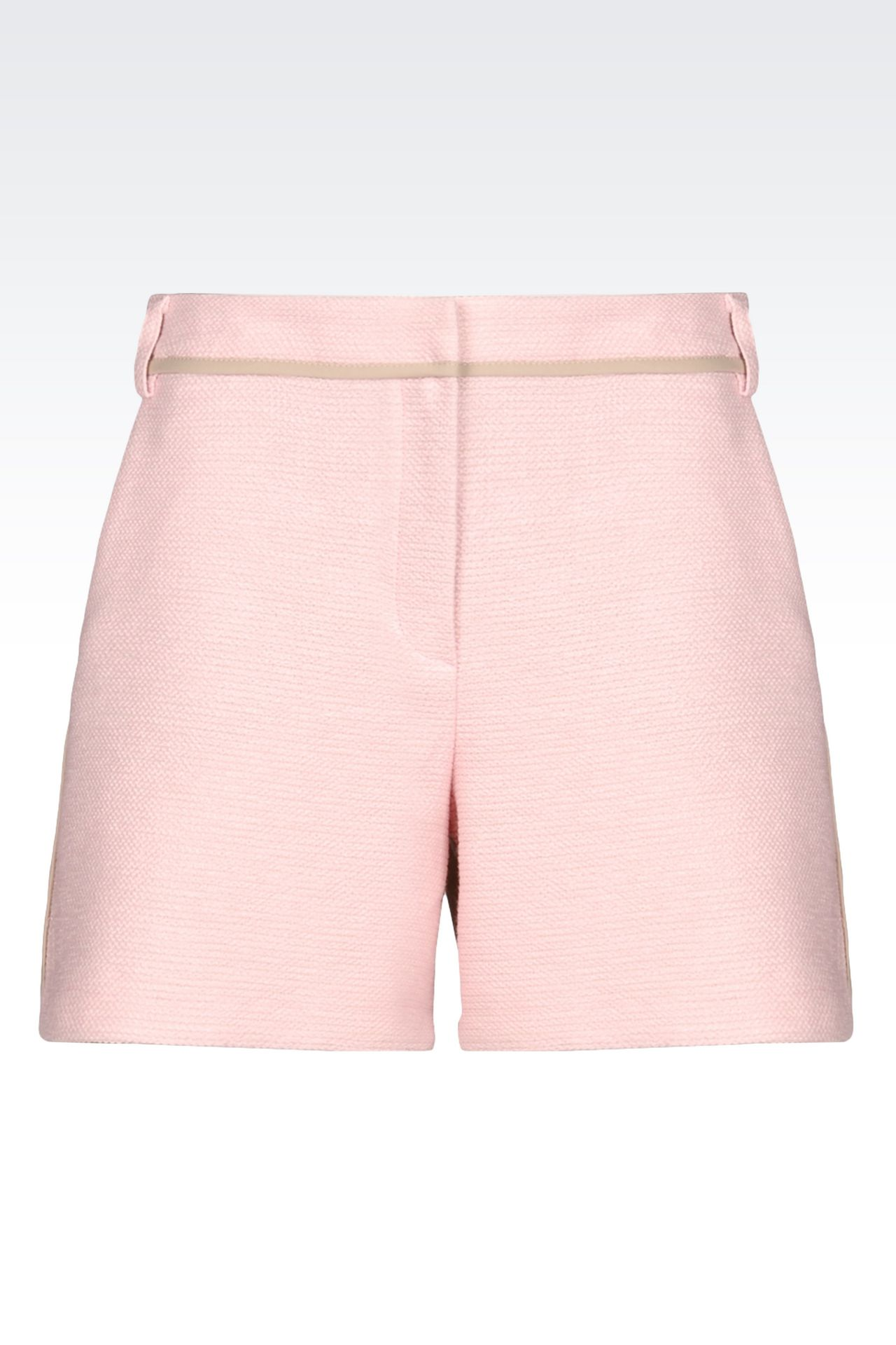 BERMUDA SHORTS IN BASKETWEAVE: Bermuda shorts Women by Armani - 0