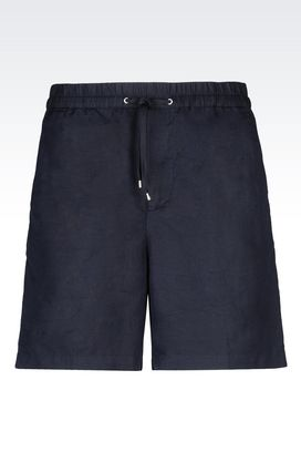 Armani Bermuda shorts Men bermuda shorts in canvas