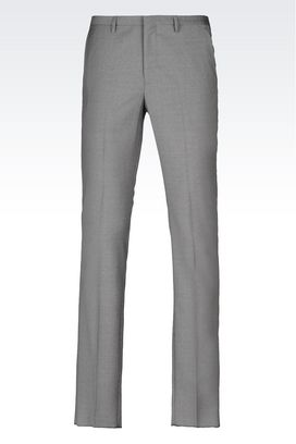 Armani Straight leg trousers Men virgin wool trousers