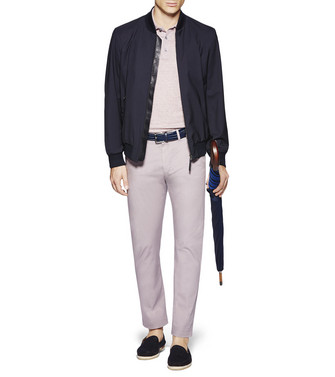 ERMENEGILDO ZEGNA: Formal Trousers Lilac - 36825493PJ