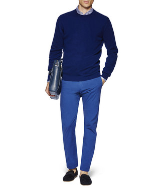 ERMENEGILDO ZEGNA: Formal Trousers Bright blue - 36825500FI