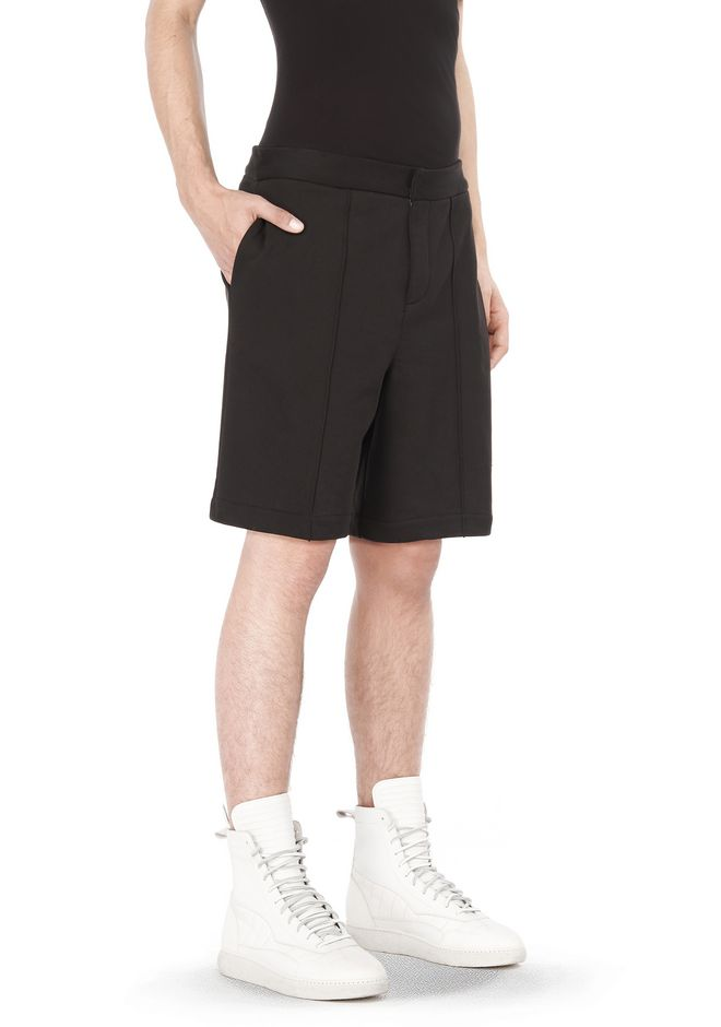 T by ALEXANDER WANG SHORTS SHORTS WITH FRONT PINTUCK