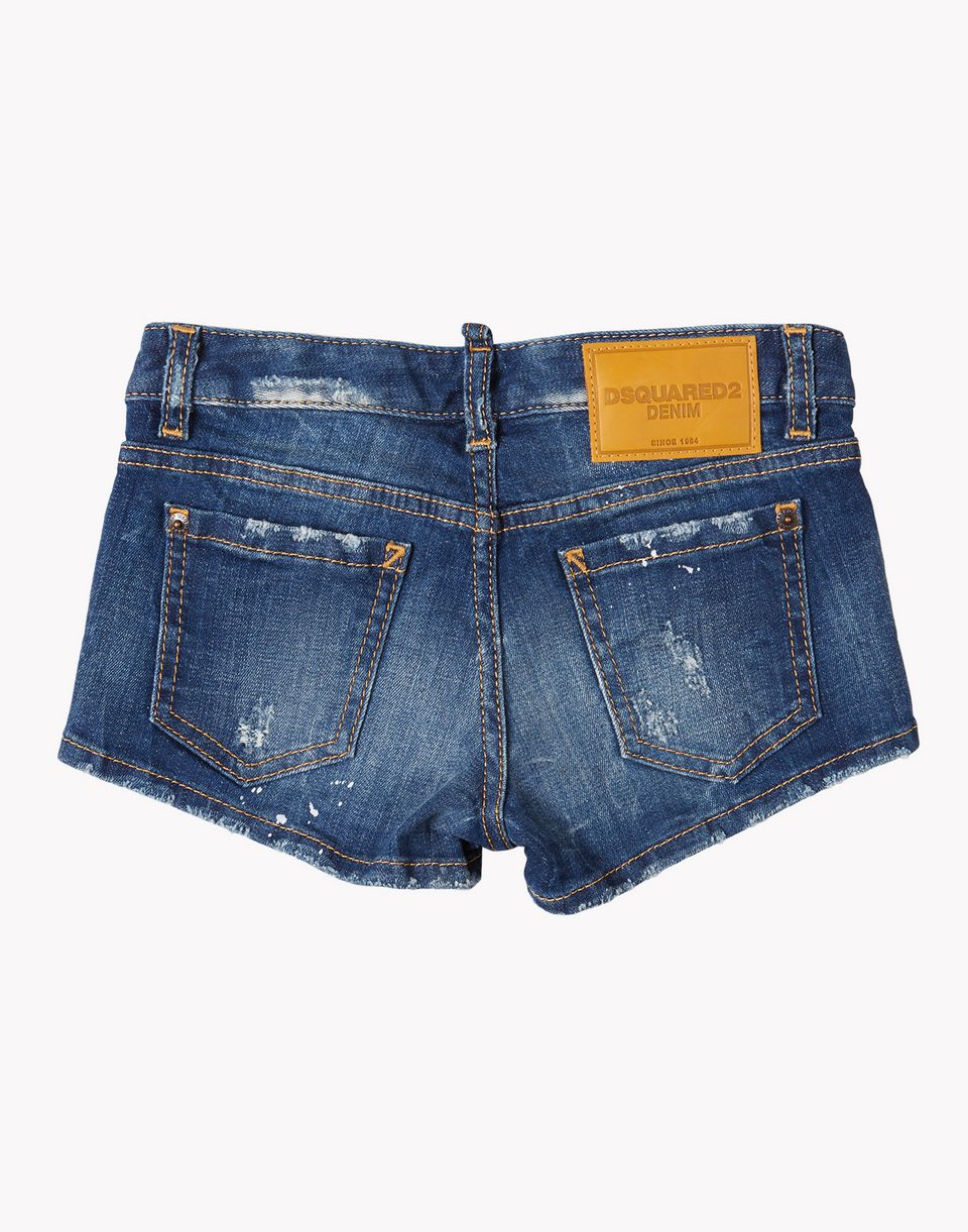 denim shorts pants Woman Dsquared2