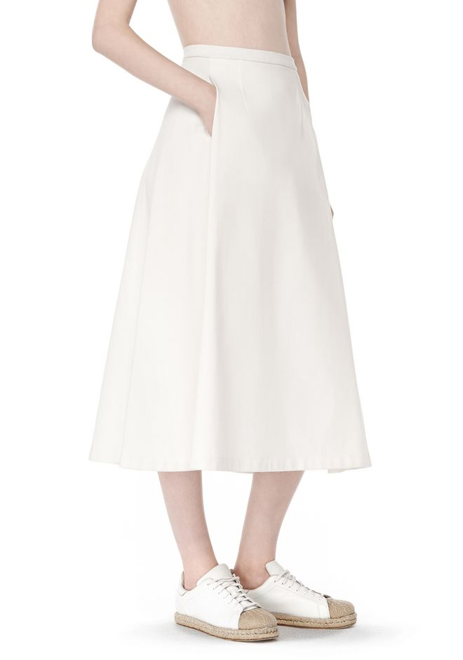 T by ALEXANDER WANG SKIRTS Women MIDI PLEATED SKIRT
