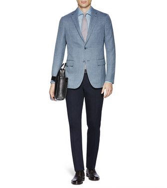 ERMENEGILDO ZEGNA: Dress Pants Blue - 36830733VB