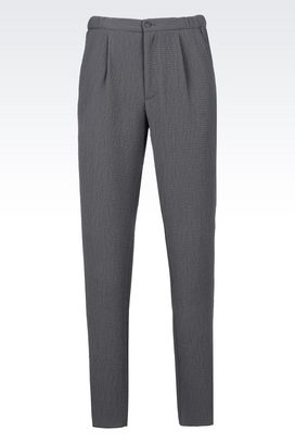 Armani Chinos Men trousers in embossed nylon