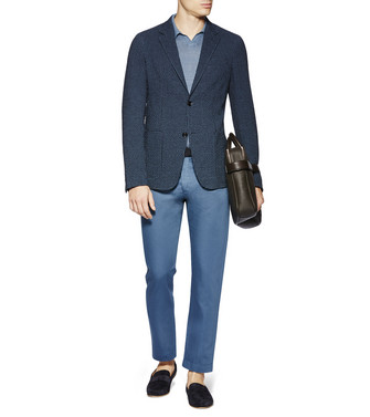 ERMENEGILDO ZEGNA: Formal Trousers Blue - 36830766QB