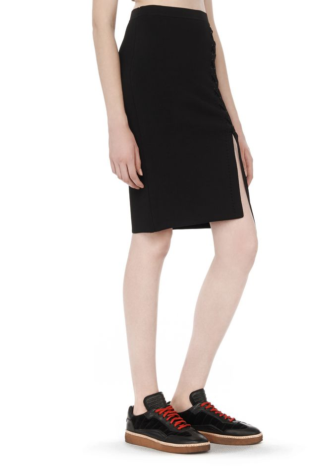 ALEXANDER WANG SKIRTS Women FITTED SKIRT WITH SIDE LACING