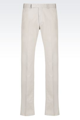 Armani Low-rise pants Men stretch cotton trousers