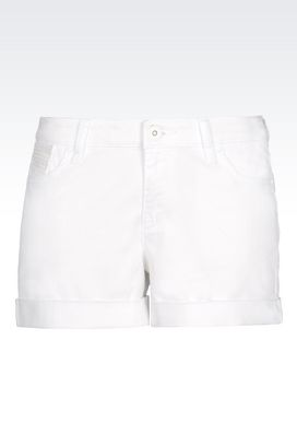 Armani 5 pockets Women shorts in stretch cotton bull