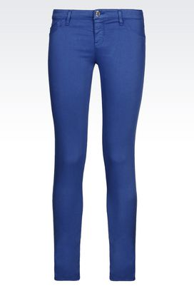 Armani 5 pockets Women skinny fit 5-pocket trousers in modal blend