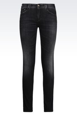 Armani Jeans 5 Tasche Donna jeans skinny fit black wash