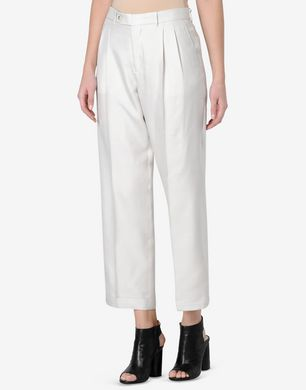 Maison Margiela Cropped silk trousers