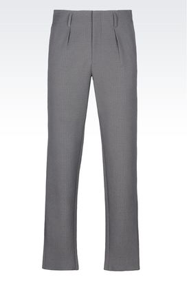 Armani High-waist trousers Men runway trousers in embossed cotton