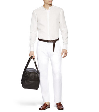 ERMENEGILDO ZEGNA: Formal Trousers White - 36833355NA