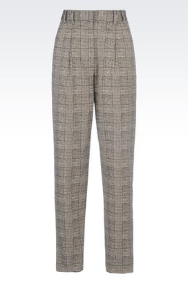 Armani trousers Women trousers in prince of wales