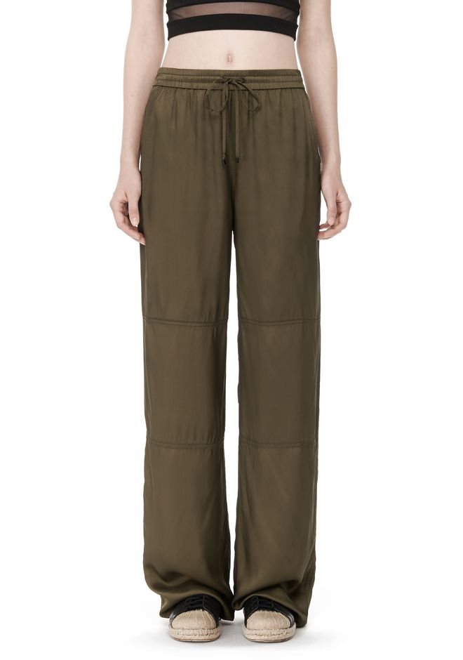 T by ALEXANDER WANG PANTS Women WASHED TWILL WIDE LEG PANTS