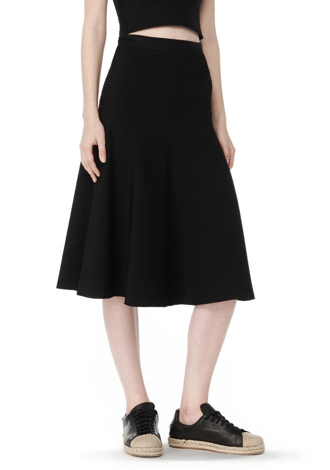 T by ALEXANDER WANG Skirts Women RIBBED FLARED MIDI SKIRT