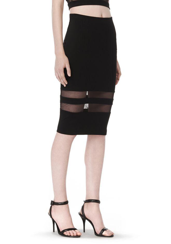 T by ALEXANDER WANG Skirts Women MESH STRIPE PENCIL SKIRT