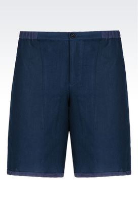 Armani Bermuda shorts Men bermuda shorts in linen blend