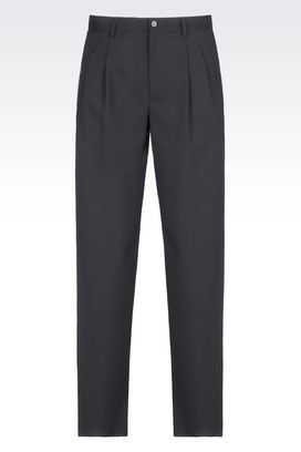 Armani High-waist trousers Men runway trousers in stretch wool