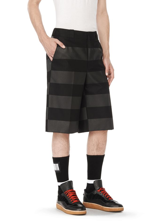 ALEXANDER WANG SHORTS RUNWAY OVERSIZED STRIPED SHORTS