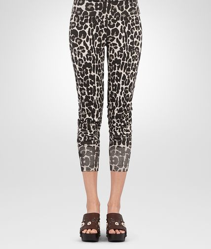TROUSERS IN LEOPARD PRINT COTTON KNIT