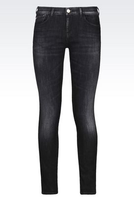 Armani Jeans Women push up black wash jeans