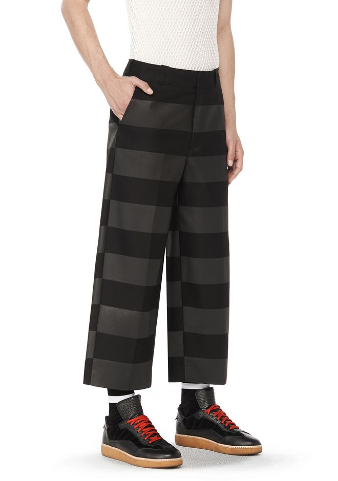 ALEXANDER WANG PANTS RUNWAY OVERSIZED STRIPED CHINO