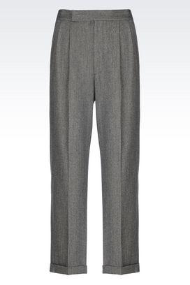 Armani trousers Men trousers in striped jacquard