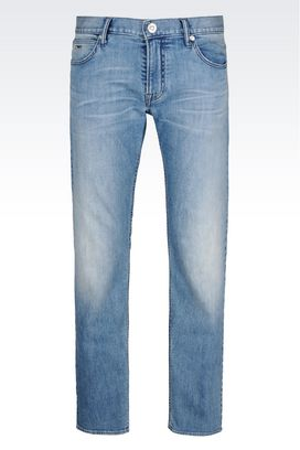 Armani Jeans Men regular fit light wash jeans