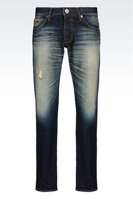 Armani Pantalons en jean Homme jean coupe classique, lavage foncé