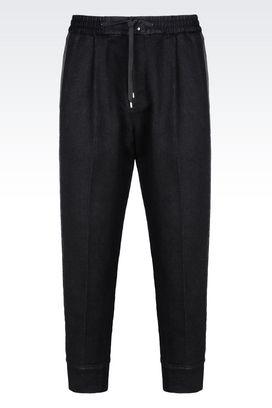 Armani Pantaloni Uomo pantalone in misto cotone
