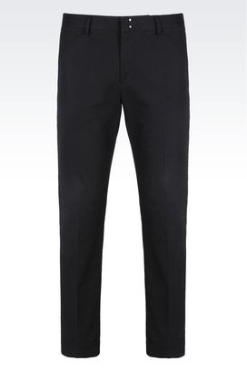 Armani Pants Men trousers in stretch cotton
