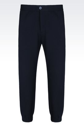 Armani Pants Men tracksuit trousers in cashmere effect