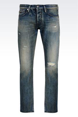 Armani Pantalons en jean Homme jean coupe slim, lavage moyen